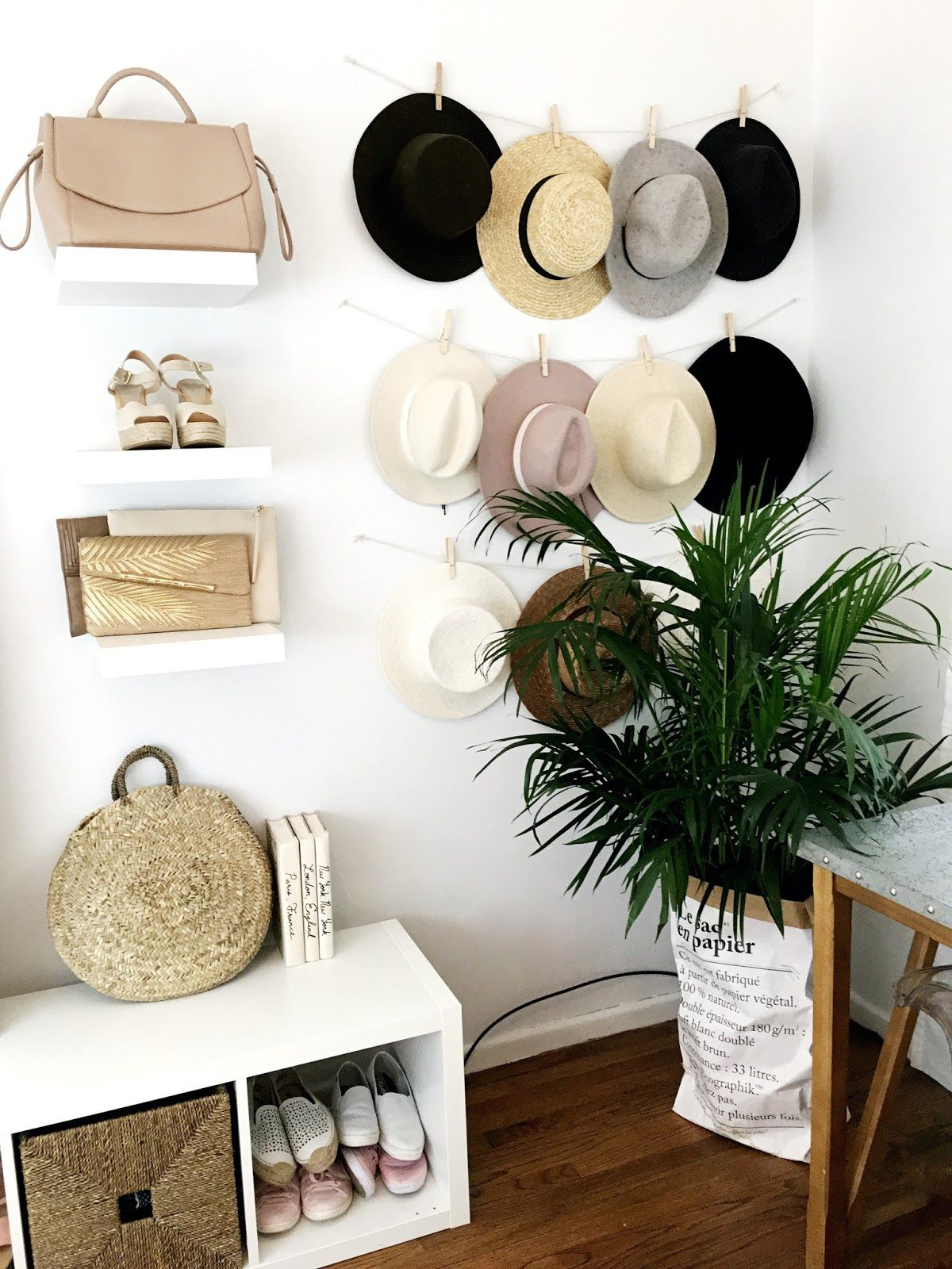 Attrayant Ikea Hack Lack White Shelves Organizer Hat Wall, Turn A Vertical Cubby  Storage
