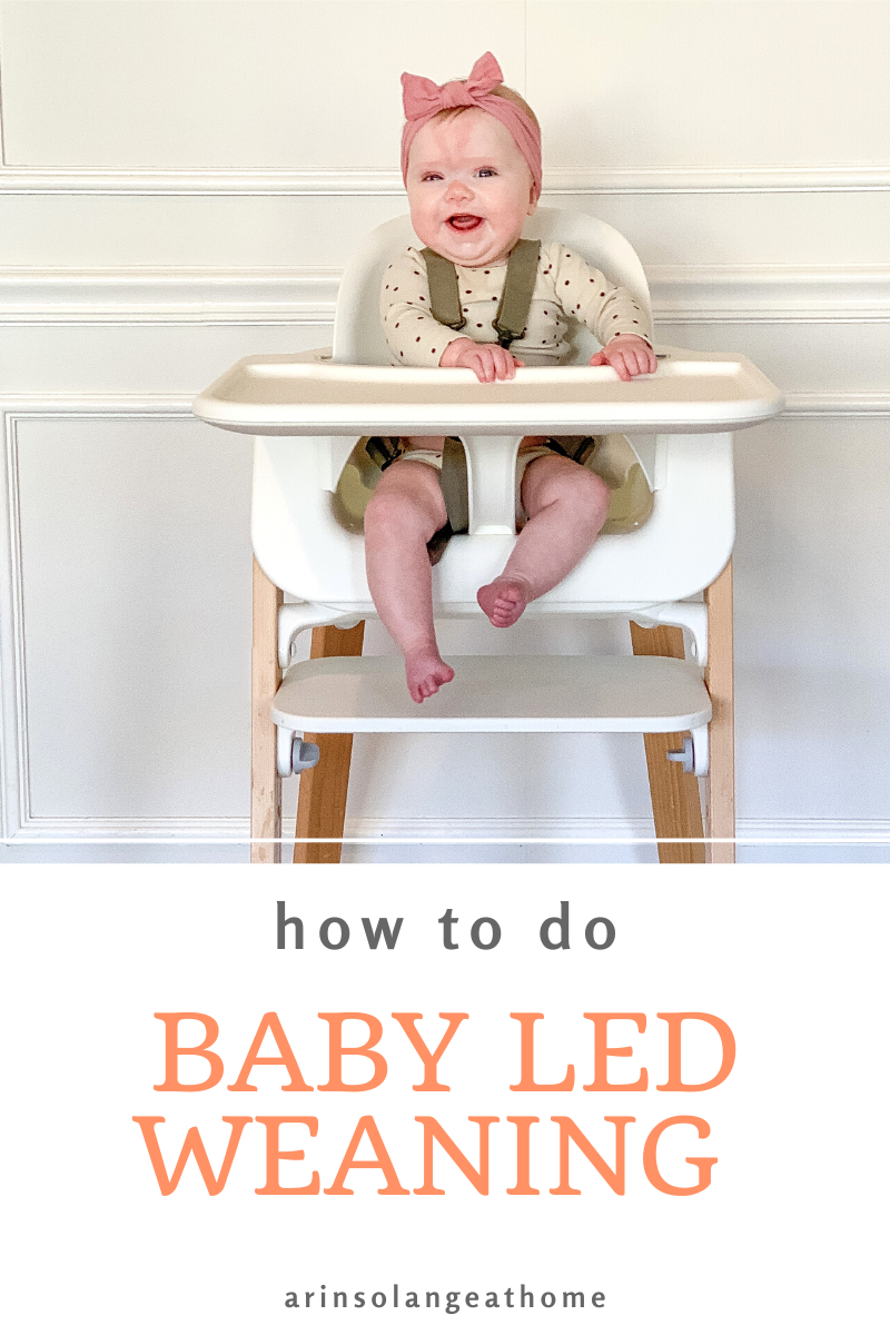 Here are some great tips and ideas for how to do baby led weaning with your child! Great for 6 months old and up - plus tips for food ideas for toddlers. How we wean from breast or bottle to real food. From a mom of 4 with kids with food allergies