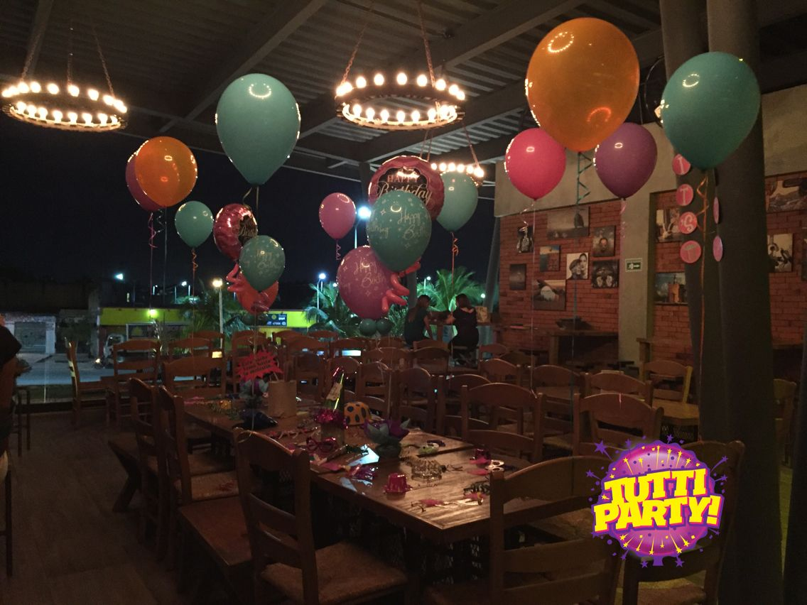 How decorate a Party in a resturante, decoracion de fiestas en restaurantes, Party in a bar, cumpleaños en un bar.