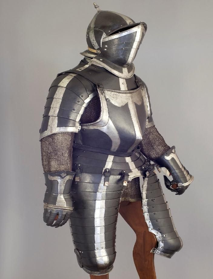 Three Quarter Horse Armour, German Black & White  Extant ...