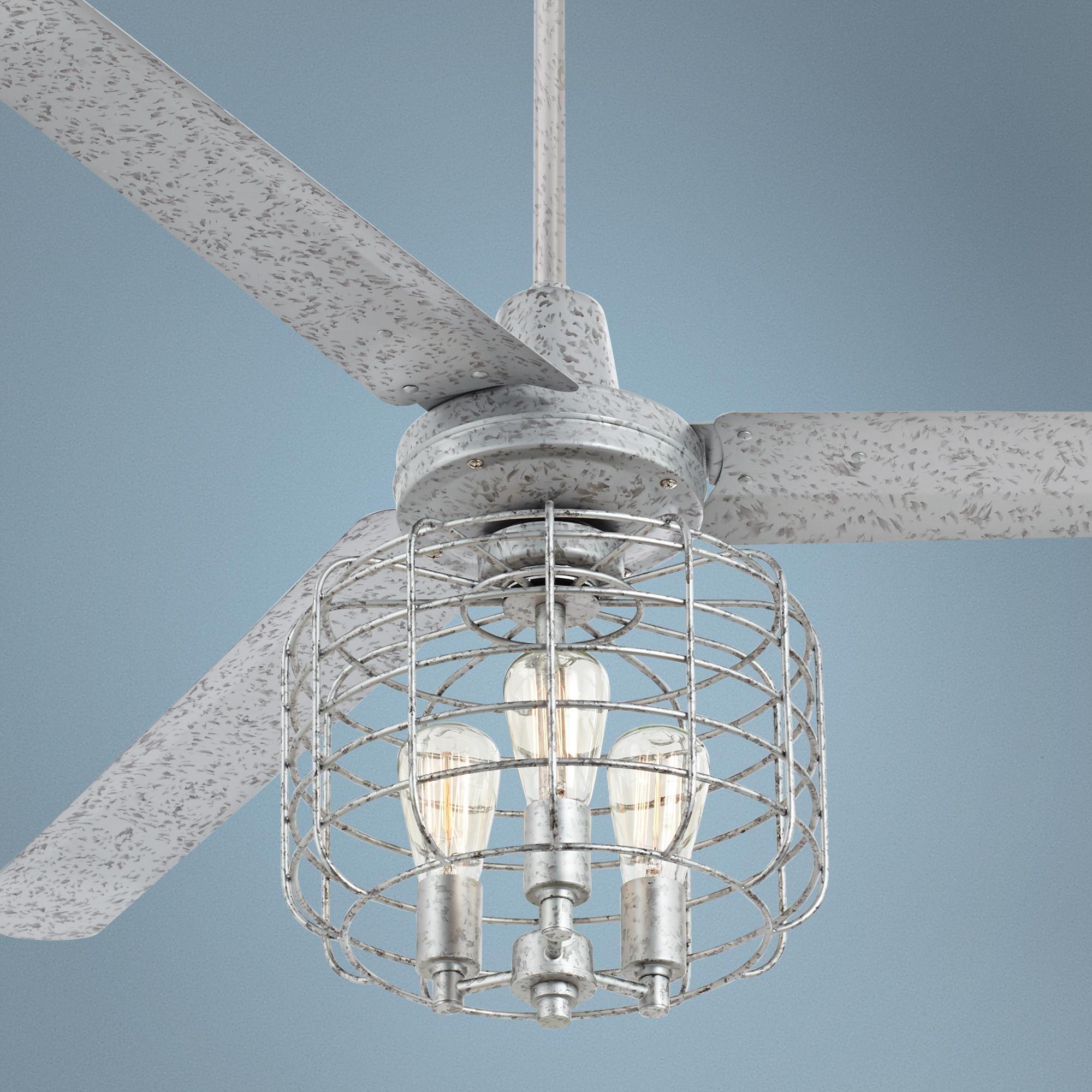 "60"" Turbina™ Galvanized Industrial Cage Ceiling Fan"