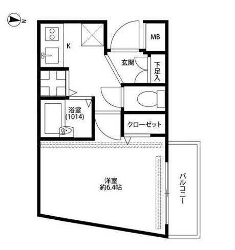 In Smaller Apartments Such As This 1k The Washing Machine Hook Up Will Be Near The Front Door Indicated Japanese Apartment Floor Plans Apartment Floor Plan