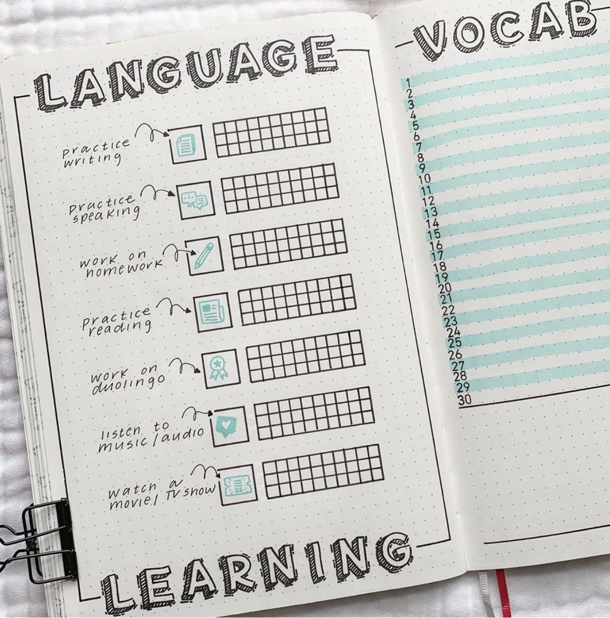 journaling #ideas #tracker #language #bujo (With images) | Bullet ...