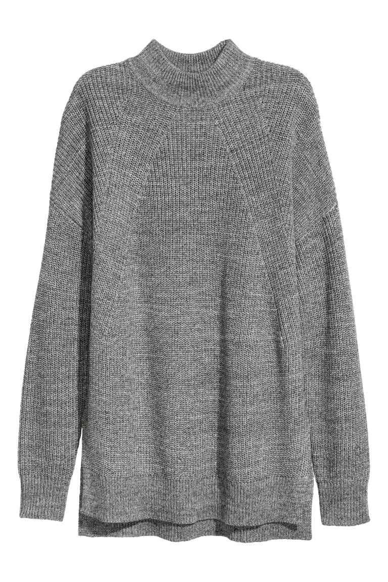 Mock-turtleneck Sweater | Turtleneck jumper, Grey turtleneck and ...