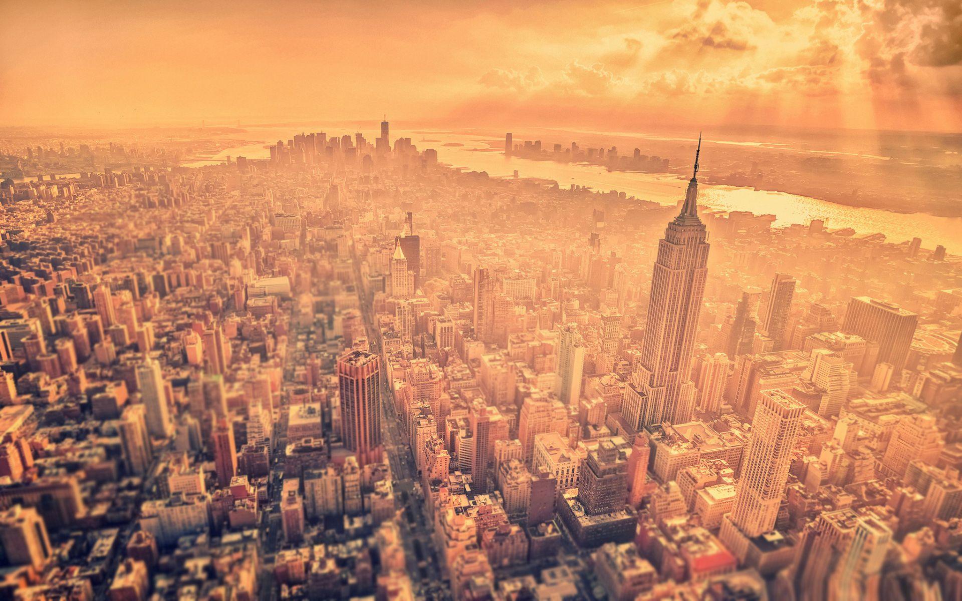 New York City Landscape HD Widescreen Desktop Wallpaper