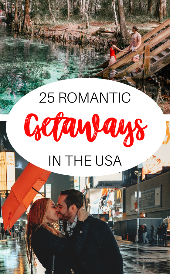 Romantic getaways in the US for couples