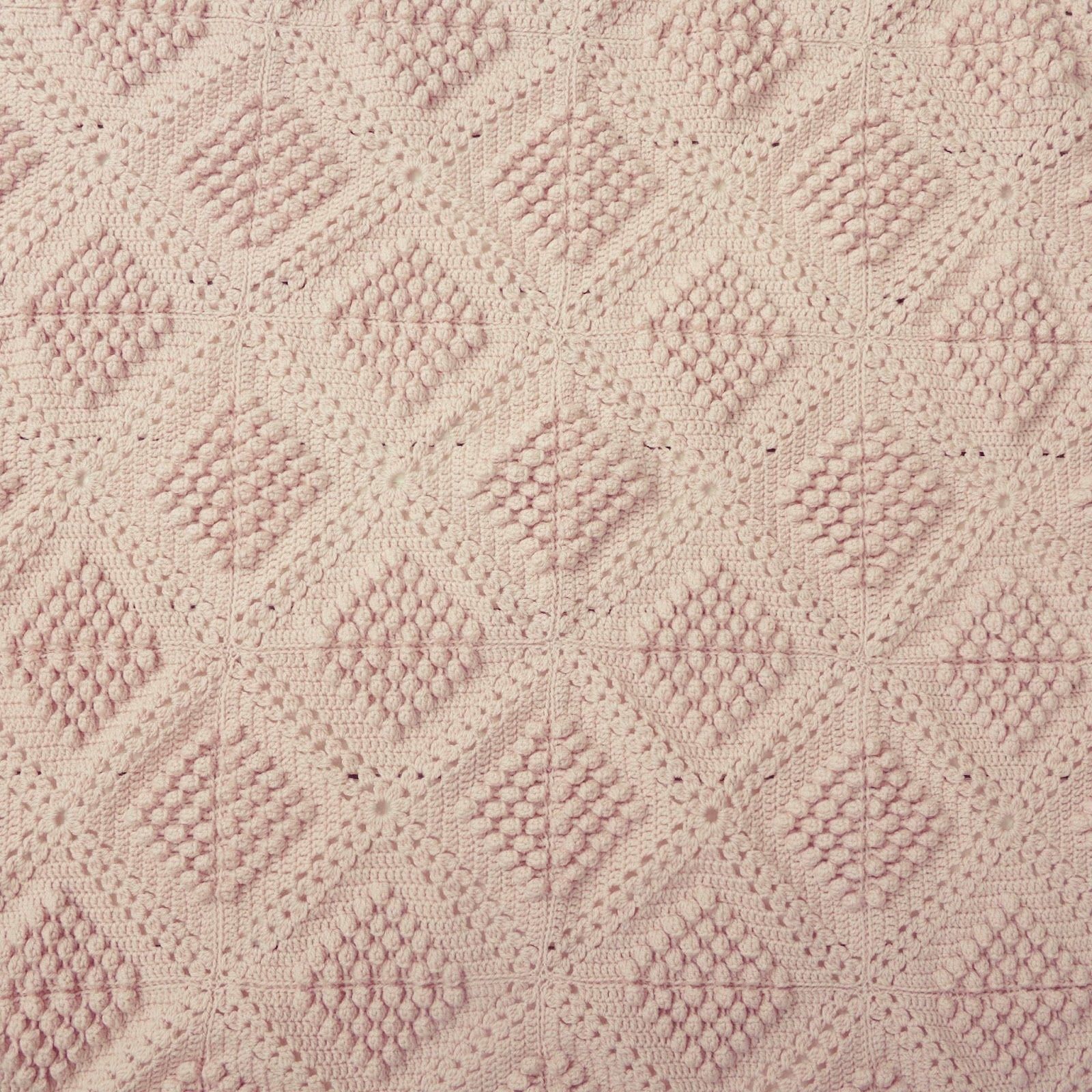 Byhaafner ganchillo punto bobble polvo de color rosa a un tiro another blanket finished bankloansurffo Choice Image