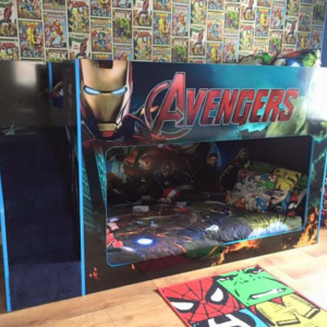 Best Custom Made Avengers Bunk Bed With Stairs In 2020 Bunk 640 x 480