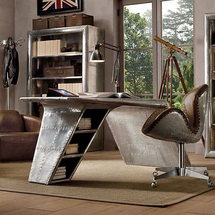 Aviation Themed Home Office Design