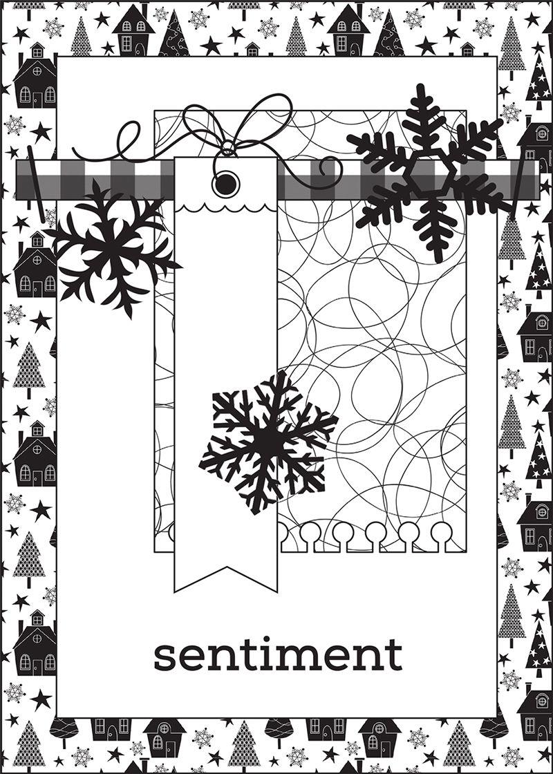 Новогодние открытки скрапбукинг по скетчами