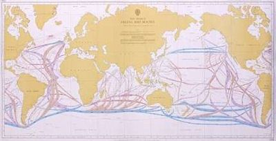Sailing ship routes of the world paper wall map admiralty chart sailing ship routes of the world paper wall map admiralty chart 5308 gumiabroncs Image collections