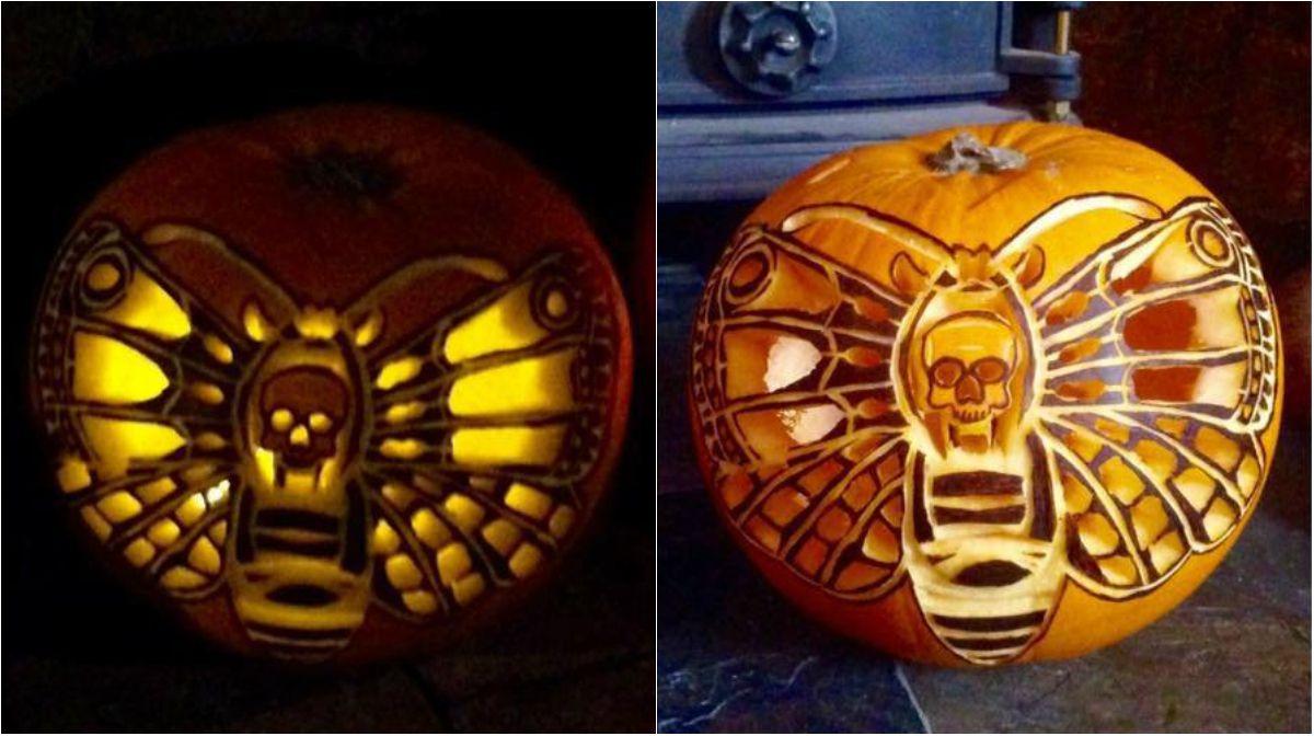 Butterfly Conservation On Pumpkin Carving Pumpkin Crafts Pumpkin