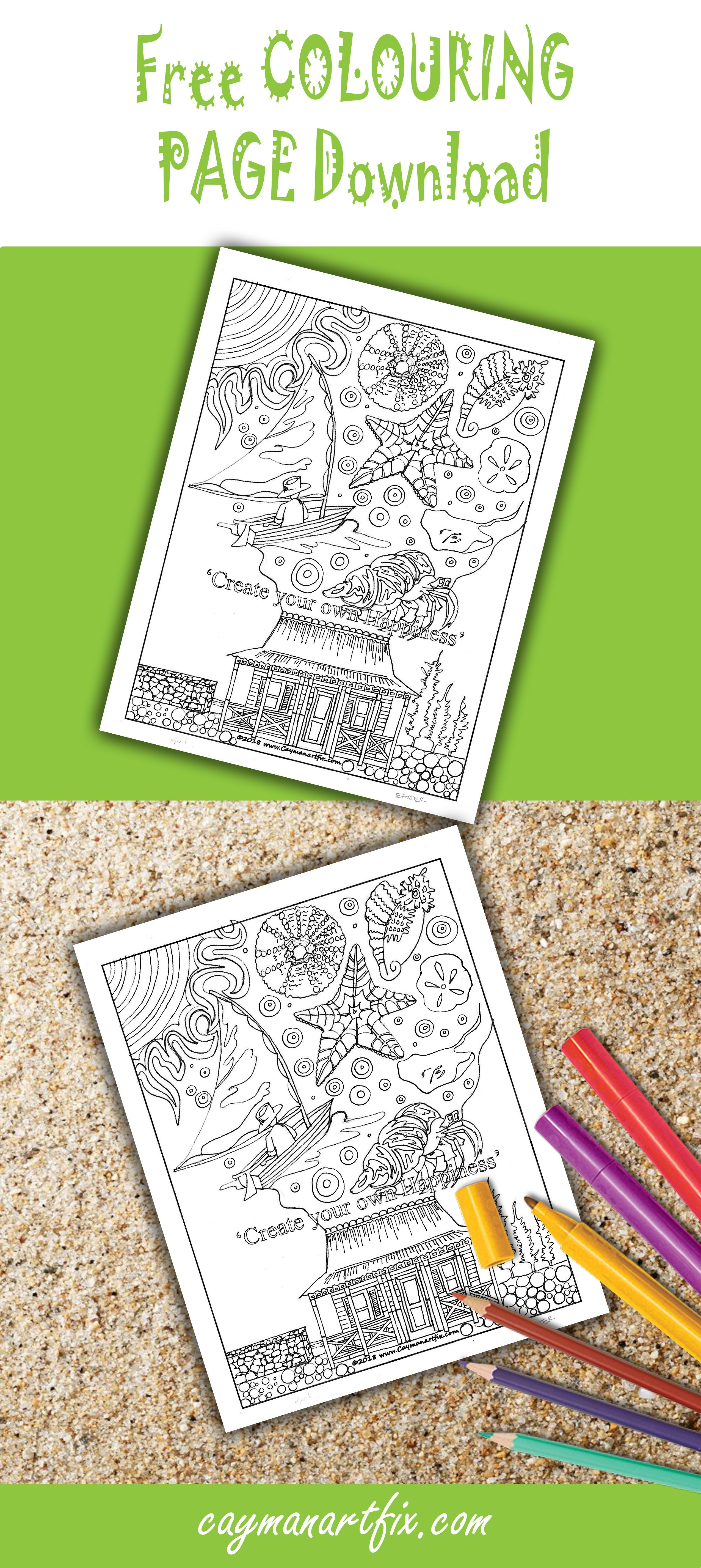 Get Your April Colouring Page Now Cayman Art Fix Coloring Pages Page Online Free Coloring Pages