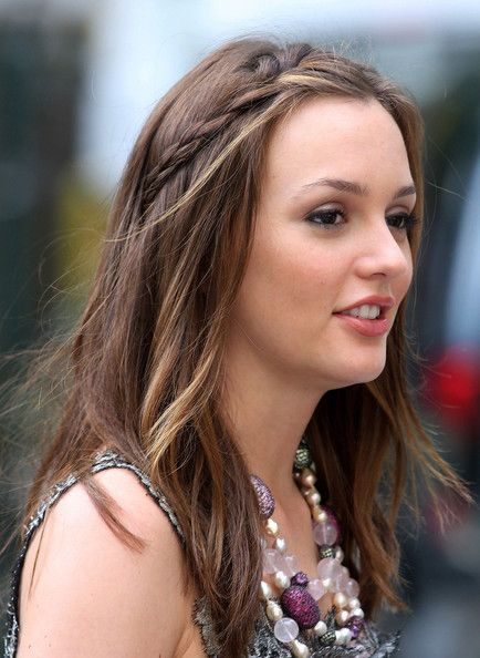 long hair styles pics leighton meester partially braided pelos frisure 7848 | d97a9aac3eee7c91cdf7848c5b929014