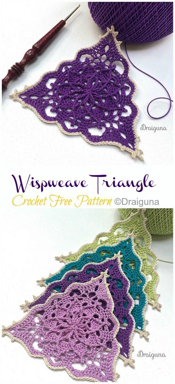 Wispweave Lace Doily Crochet Free Pattern #crochetpatterns