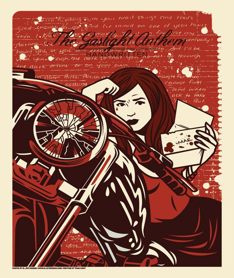 The Gaslight Anthem Handwritten Poster Design El Jefe With