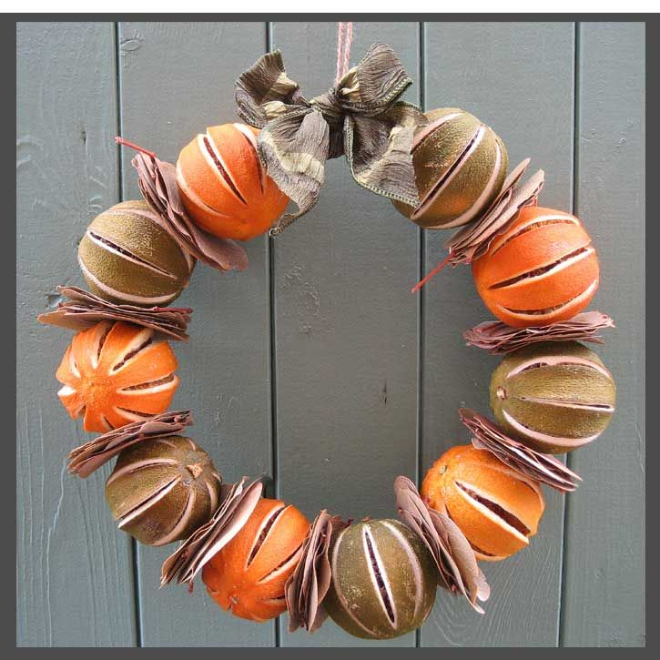 Dried Fruit Wreath Home Decorating Ideas Interior Design