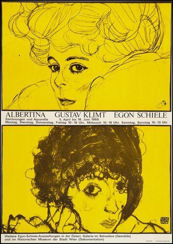 "Movie Posters:Miscellaneous, Gustav Klimt & Egon Schiele Art Exhibit (Albertina, 1968).Exhibition Poster (23"" X 33""). Miscellaneous.. ..."