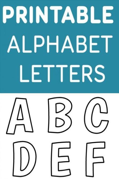 printable free alphabet templates pin classroom pinterest
