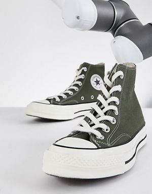 converse chuck '70 hi trainers in khaki  sneakers