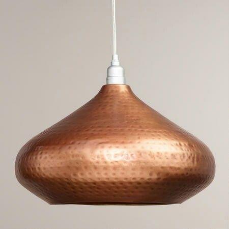 Hammered Copper Pendant Lighting From World Market Aydinlatmalar Avize Aplike