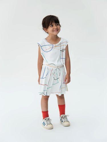 Bobo Choses - Tennis dress Court, off white | pikkuOtus -Lastenvaatteet