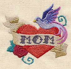 Mom Tattoo Urban Threads Unique And Awesome Embroidery Designs Embroidery Designs Mom Tattoos Mom Tattoo Designs