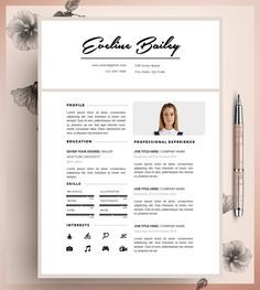 resume template cv template editable in ms word and by cvdesignco - Resume Template For Microsoft Word