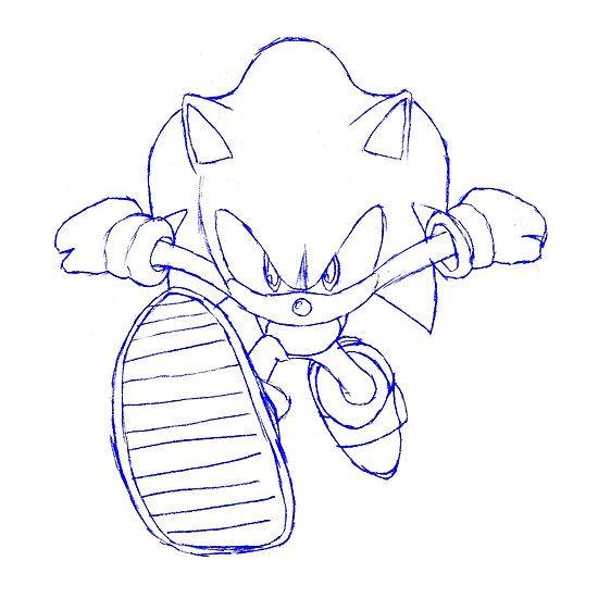 Sonic Running Draft Drawing Drawings Running Drawing Drafting