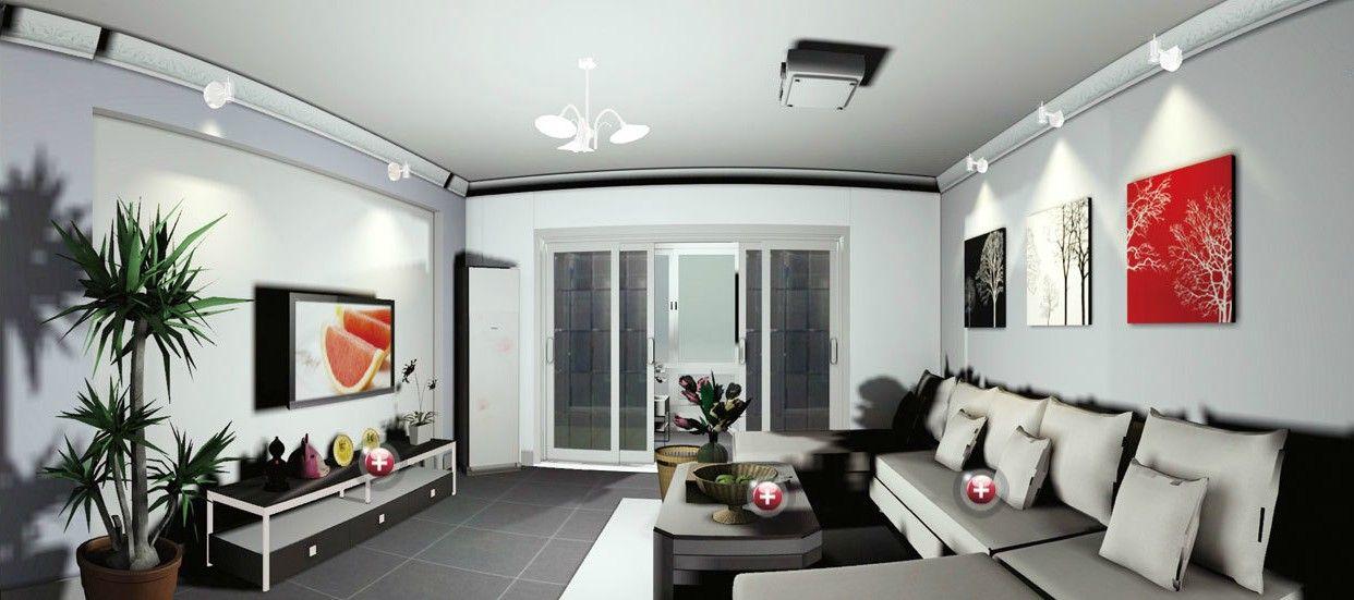 Great Simple Lighting Design For Gray Modern Minimalist Living Room