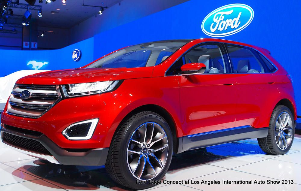 Ford Edge Kuga And Ecosport Line Up Of Redesigned Suvs Edge Concept At Laias With Images Ford Edge Ford Trucks Ford