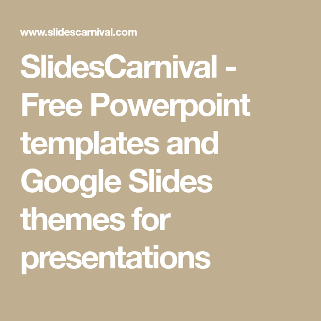 Slidescarnival  Free Powerpoint Templates And Google Slides