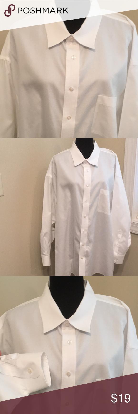 White Dress Shirt 100 Cotton 20 3435 In 2018 My Posh Picks