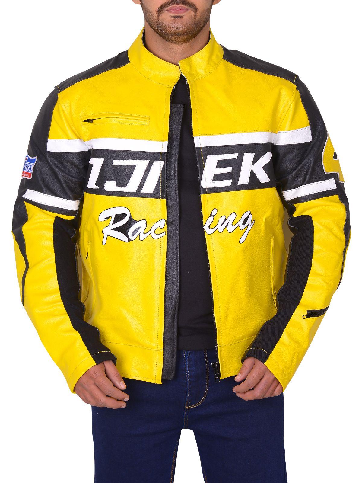 Black Yellow Padded Biker Leather Jacket Men Jacket Mauvetree Leather Jacket Men Jacket Tops Black Biker Jacket [ 1600 x 1200 Pixel ]