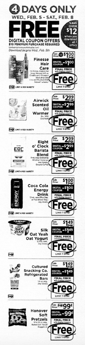 Shoprite 4 Day Digital Coupon Event Score 7 Free Items 2 5 2 8