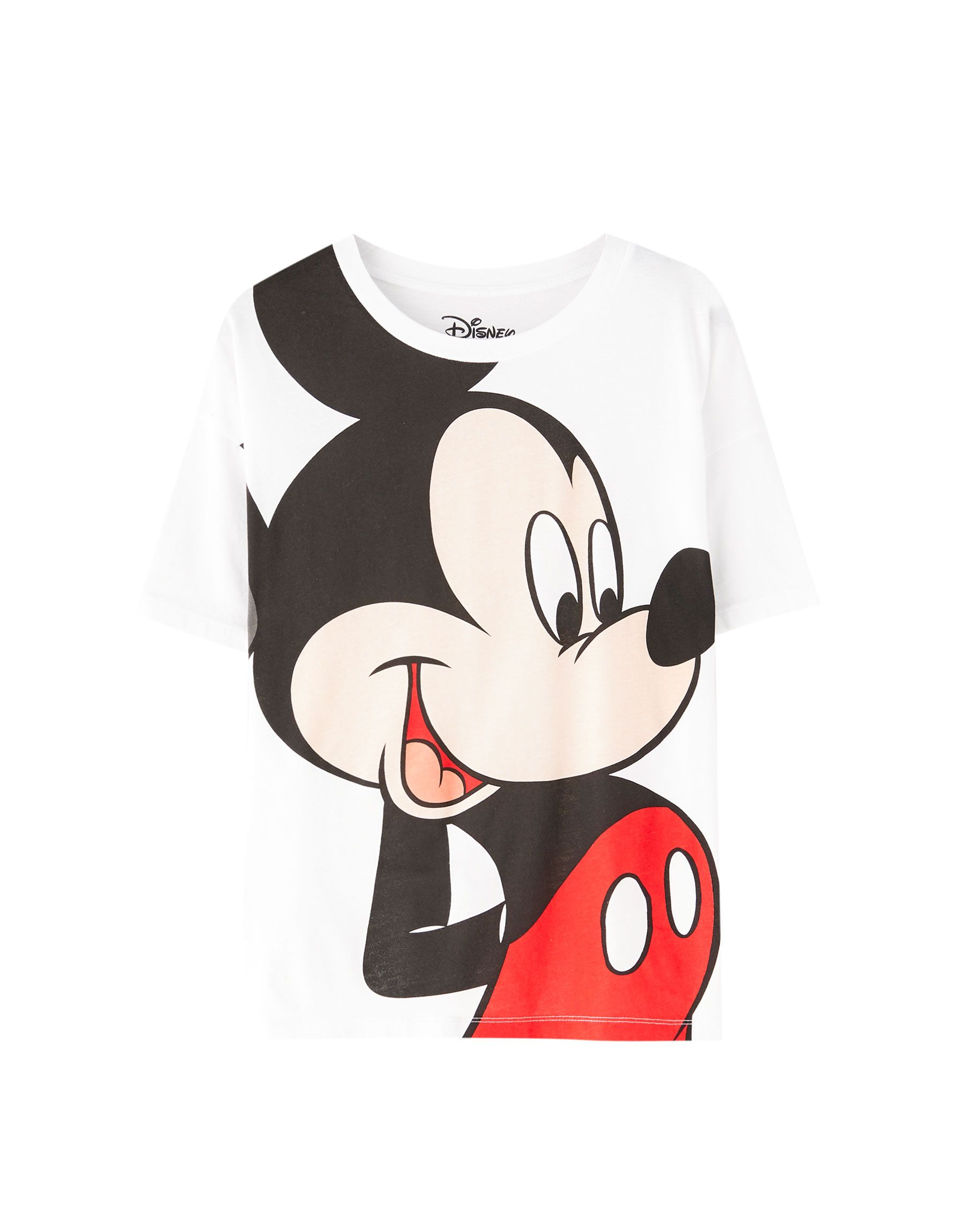 Pull Bear Female Camiseta Mickey Mouse Disney Blanco L Mickey Mouse T Shirt Disney Outfits Mickey Mouse Outfit