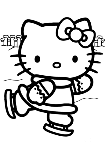 Hello Kitty Ice Skating Coloring Page Hello Kitty Colouring Pages Hello Kitty Coloring Kitty Coloring