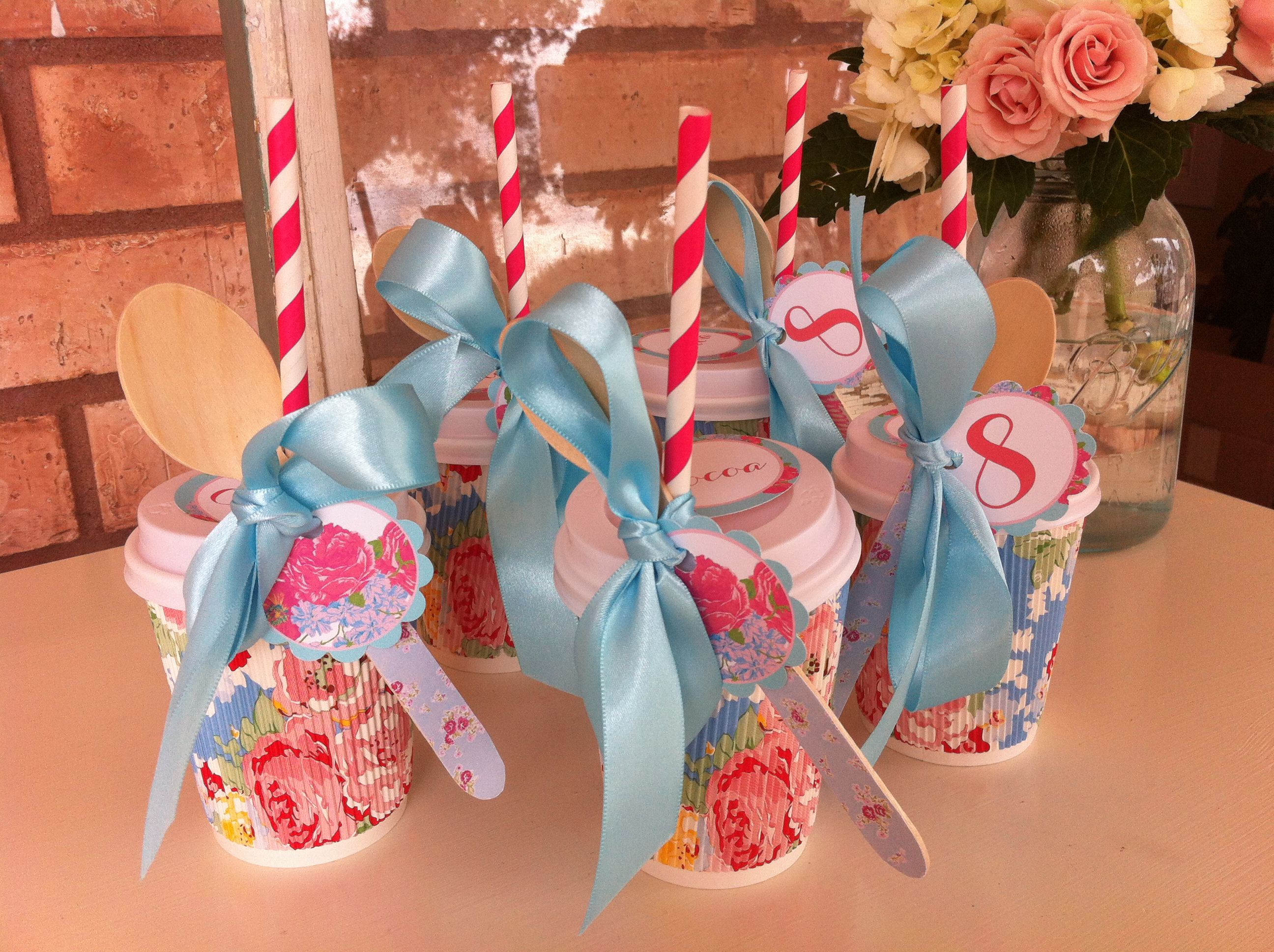 Cocktail Party Favor Ideas Part - 34: Hot Cocoa Party Favors Shabby Chic Tea Party By Oh Goodie Designs