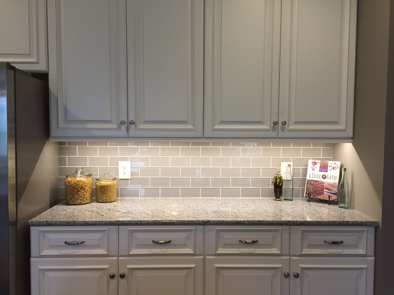Glass Kitchen Backsplash Dash Appliances Smoke Subway Tile Backsplashes Pinterest