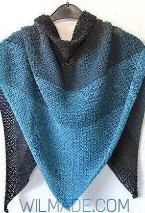 Free #crochet #pattern to make this never ending #shawl on wilmade ...