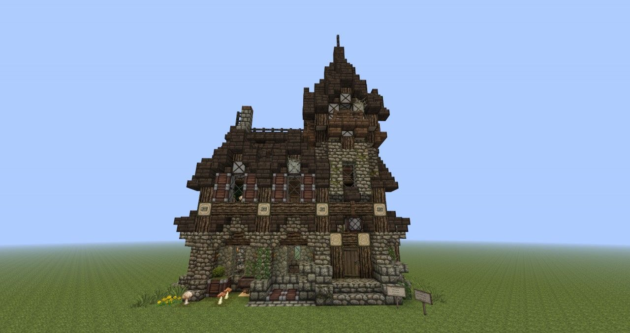 Gothic House Minecraft Project Minecraft Medieval Minecraft Medieval House Minecraft Small House