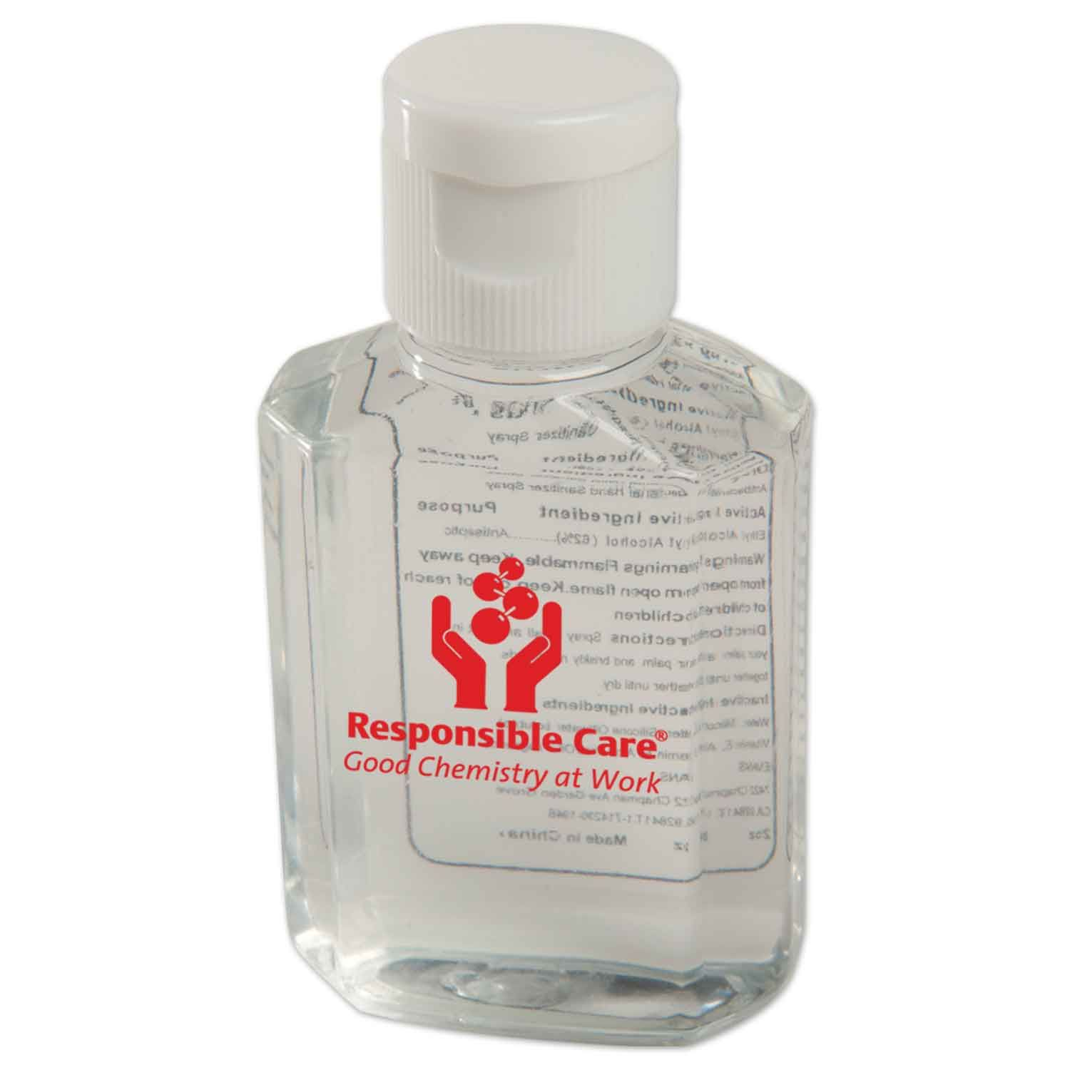 Bottle contains antibacterial gel to keep hands clean by killing bacteria and germs. Useful gift for school administrators and tradeshow personnel. The 3672 2 OZ. Protect™ Antibacterial Gel #PromotionalProduct is available in Full Color Process at https://www.evans-mfg.com.