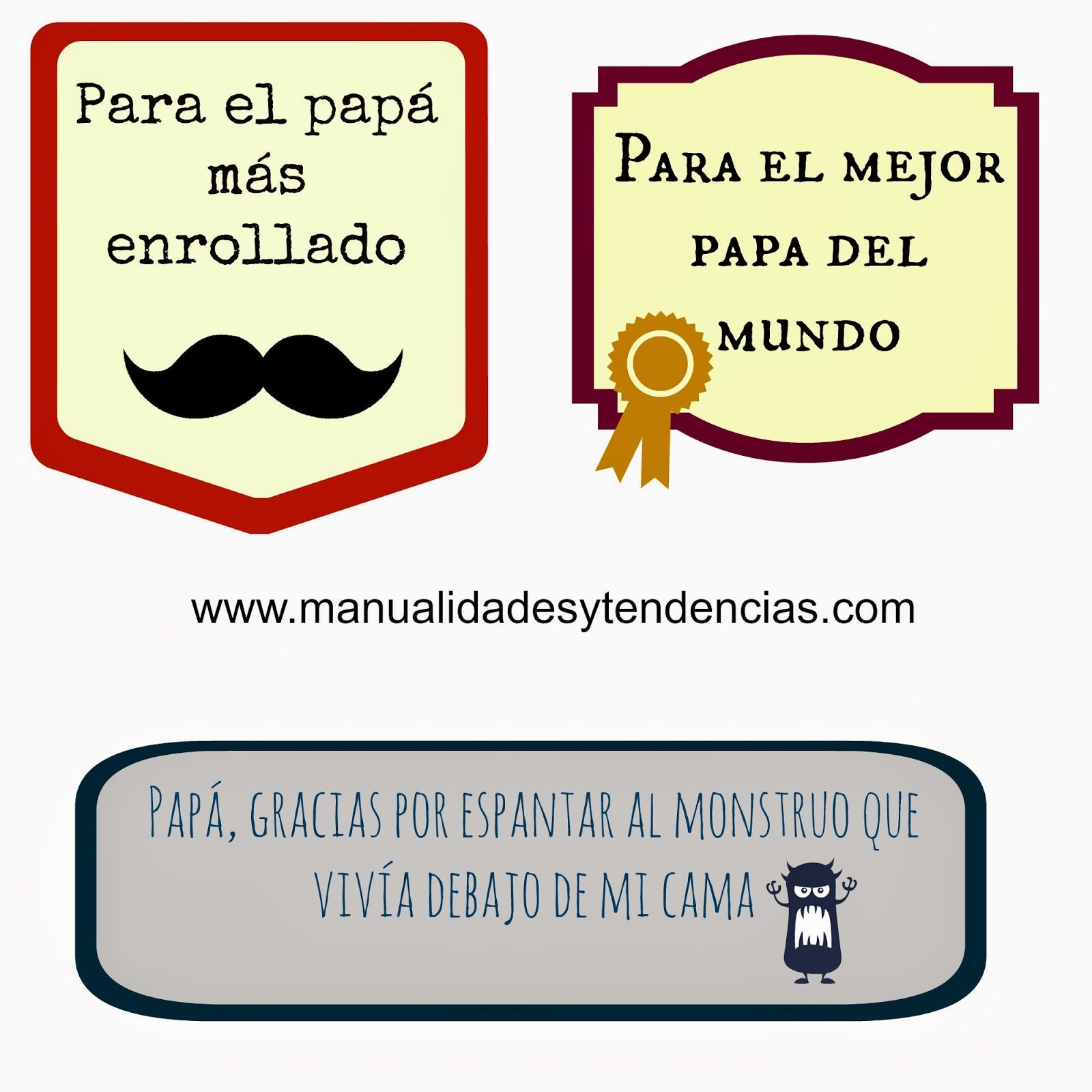 Se acerca el Día del Padre en algunos sitios ¡Estas tarjetas de ...
