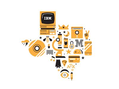 Ibm Tejas Graphic Illustration Ibm Illustration