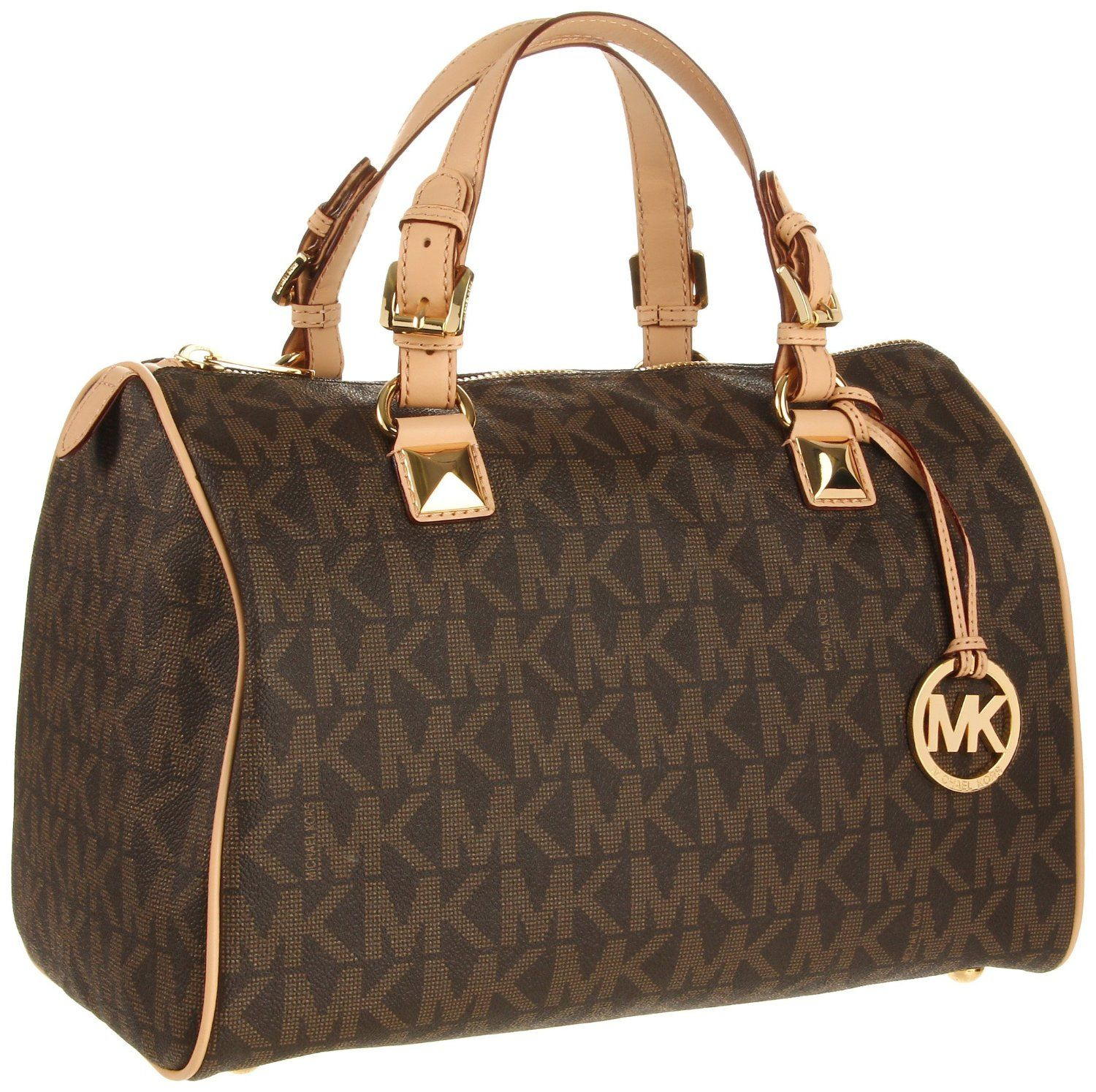 MICHAEL KORS Grayson Large Logo Satchel Womens Handbag. http ...
