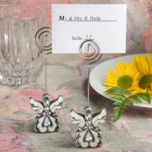 Angel Design Place Card Holders http://www.1weddingsource.com/store/index.php/angel-design-place-card-holders