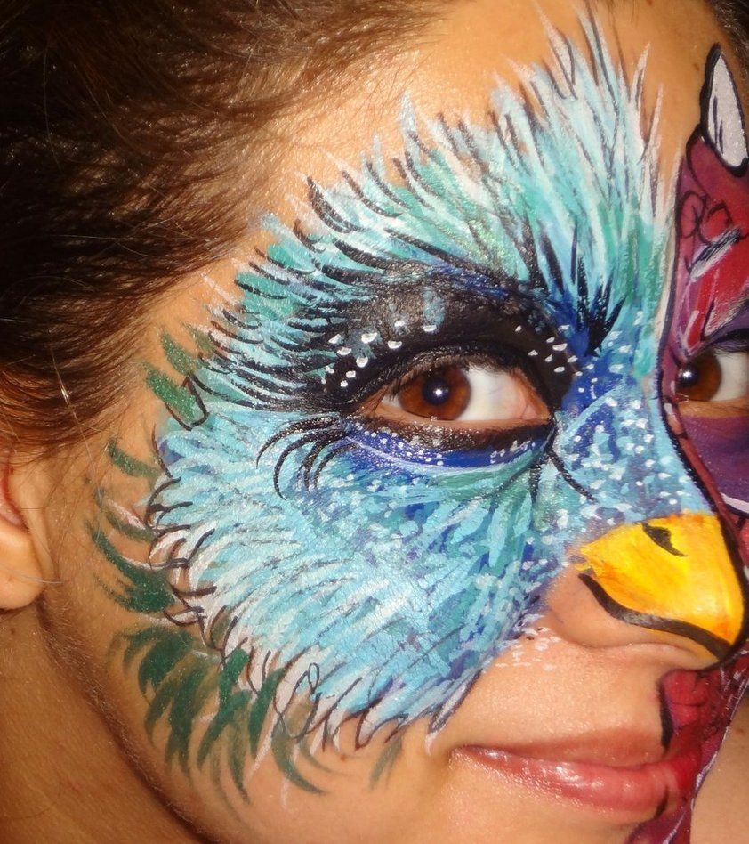 Omg Painted Bird Face..genius! | Halloween Ideas ...