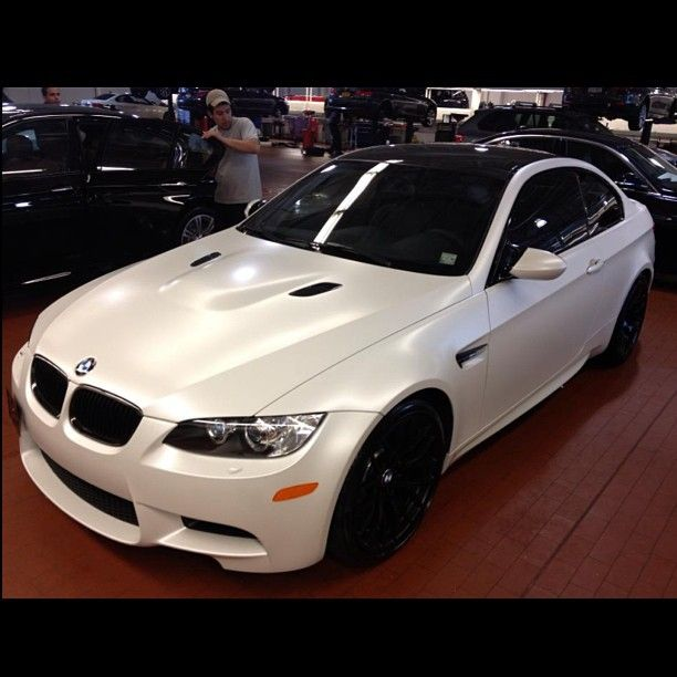 No Filter Needed On This Frozen White Matte Finished M3 Rallyebmw