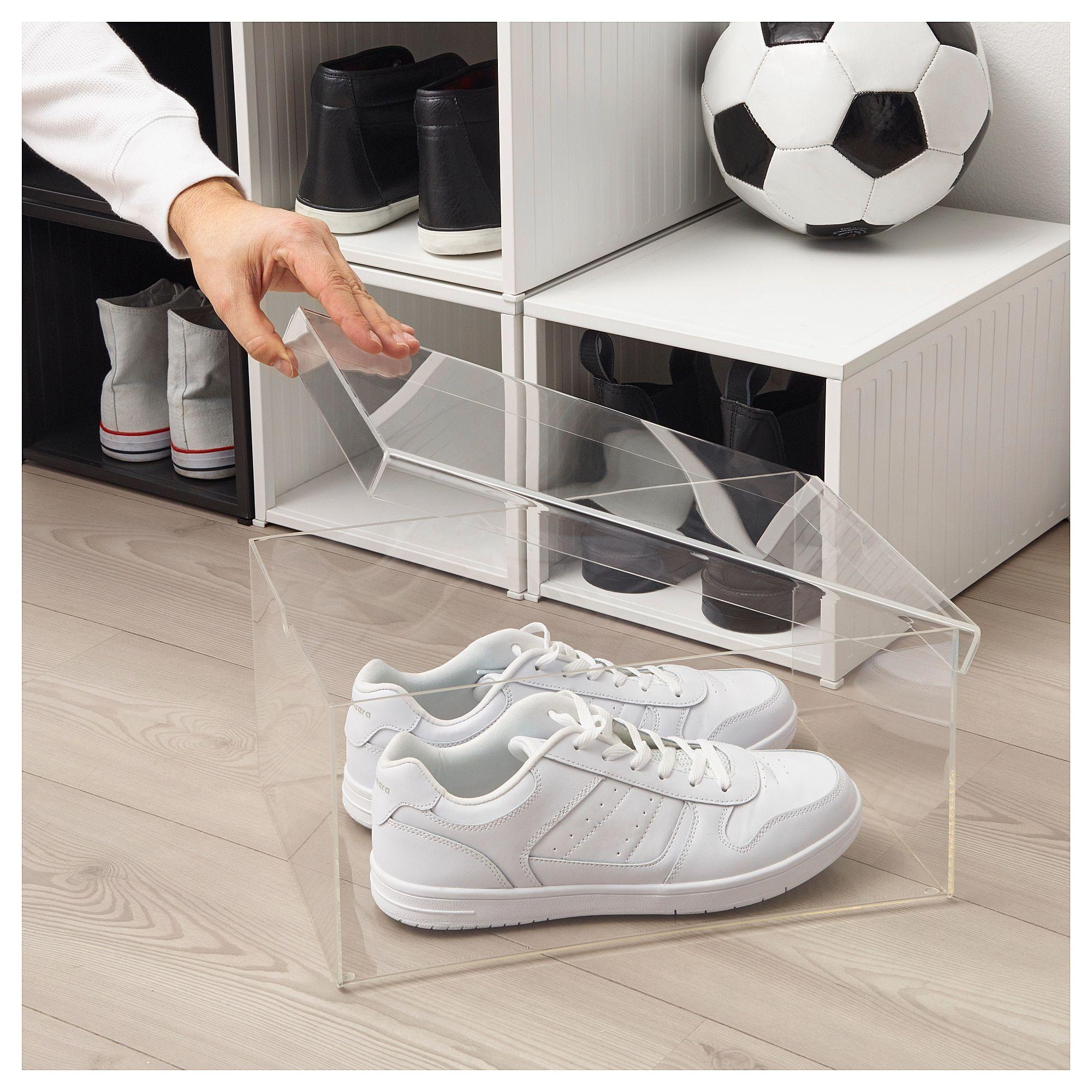 SPÄNST Shoe box, transparent - IKEA