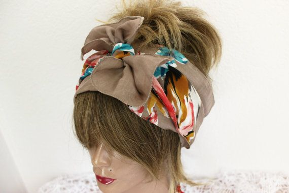 Cotton Bandana Headband Patchwork Bandana Hippy Headband